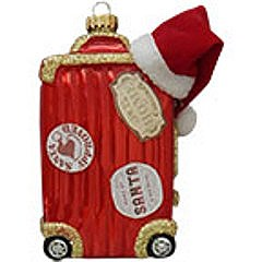 Santa's Suitcase Ornament