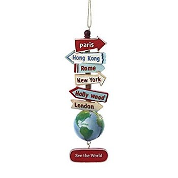 """""""See the World"""" Sign Ornament"""