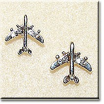 Small Silver Jet Earrings