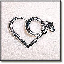 Heart Airplane Pin
