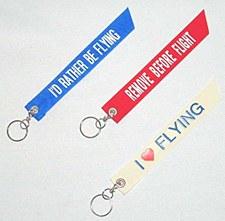 """I Love Flying"" Keyring"