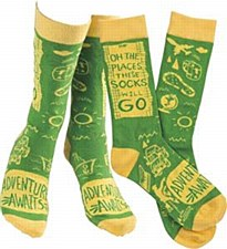 """Adventure Awaits"" Ladies Sock"