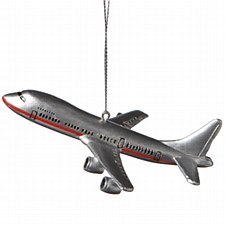 Silver Airliner Ornament