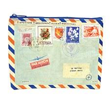 Airmail Zipper Pouch
