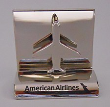 Airplane Chrome Card Holder