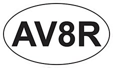"""AV8R""  Oval  Sticker"