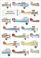 Birthday Card - Vintage Planes