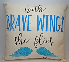 """Brave Wings"" Pillow"