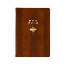 Brown Tvl Jrnl-Gold Compass