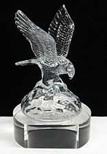 Crystal Eagle on Clear Base
