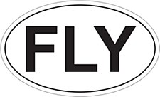 """Fly"" Oval Sticker"