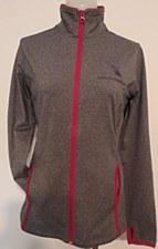 L Fleece w/Contrast Zip LG