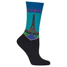 Ladies Paris Sox Dark Blue