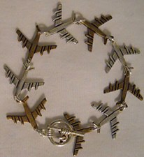 Linked Planes Bracelet