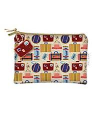 Luggage Print Zippered Bag