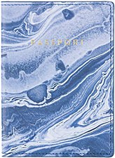 Marble Blue Pasport Cover