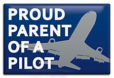 """""""Proud Parent of Pilot"""" Magnet"""