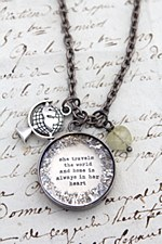 """She Trvls the World"" Necklace"