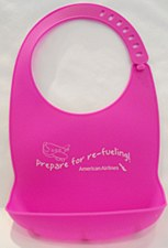 Silicone Baby Bib-Pink