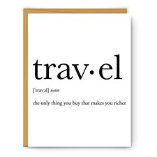 """travel"" Definition Card"