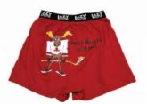 Boxer - Moose Hockey - Red -XL