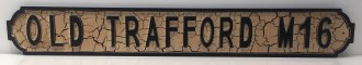 Old Trafford Street Sign