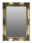 Swept Frame Mirror Gold