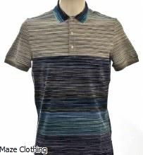 Missoni Block Stripe Polo Blue