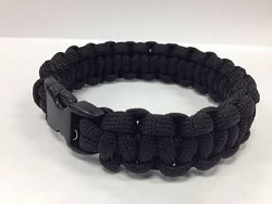 Paracord Bracelet, Solid Black
