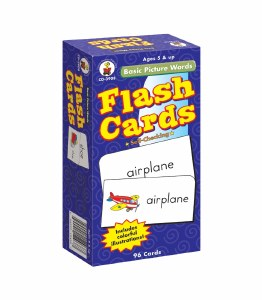 BASIC PICTURE WORDS FLASH CARD