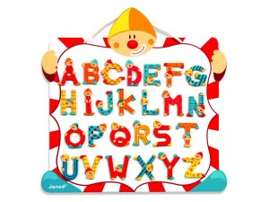 JANOD ABC MAGNETIC CLOWN BOARD