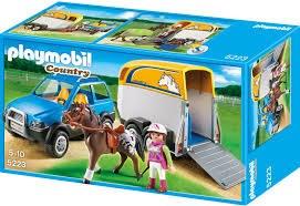 PLAYMOBIL 5223 SUV W/HORSE TRA