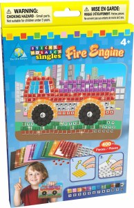 STICKY MOSAICS FIRE ENGINE