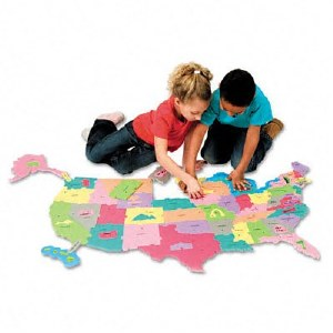 WONDERFOAM USA MAP PUZZLE