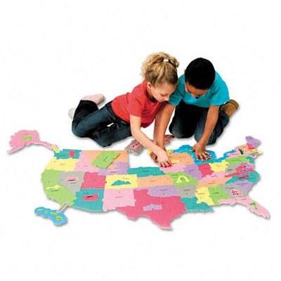 WONDERFOAM USA MAP PUZZLE