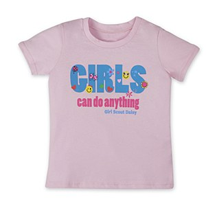 Daisy Girls Can Do Anything Pink Tee-XX-Small