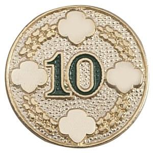 10 Year Award Pin