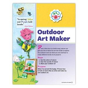Daisy Outdoor Art Maker Badge Requirements