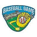 Baseball Game Patch-Ball w/Mitt
