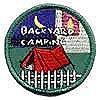 Backyard Camping Patch-Circle
