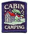 Cabin Camping Patch-Black Border