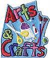 Arts & Crafts Patch-blue bckgr