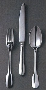Christofle Cluny Silver 5-Piece Setting