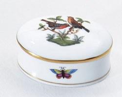 Herend Rothschild Bird Oval Box