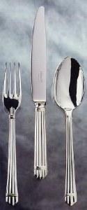 Christofle Aria Silver Serving Fork