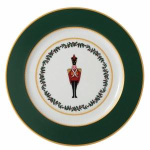 Bernardaud Limoges Grenadiers Green Soldier Salad Plate