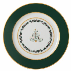 Bernardaud Limoges Grenadiers Green Tree Salad Plate