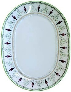 Bernardaud Limoges Grenadiers Oval Platter - Medium