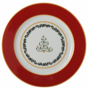 Bernardaud Limoges Grenadiers Red Tree Salad Plate
