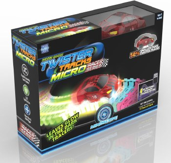 Mindscope Neon Glow Twister Tracks Micro Race Series